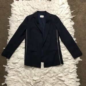 Club Monaco Side Zip Blazer Navy Blue 00